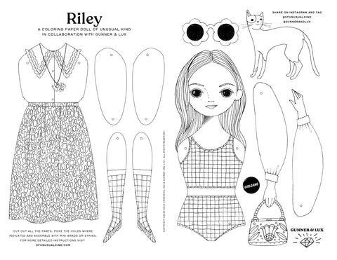 "FREE ""RILEY"" PAPER DOLL PRINTABLE PDF"