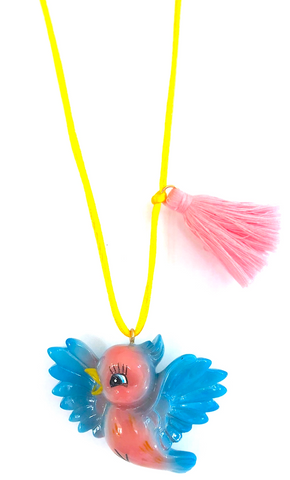 """BIRDIE THE BLUE BIRD"" NECKLACE"