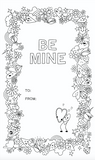 "FREE ""BE MINE"" VALENTINE'S COLORING SHEET!"