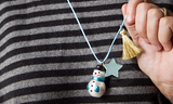 HOLIDAY SNOWMAN NECKLACE