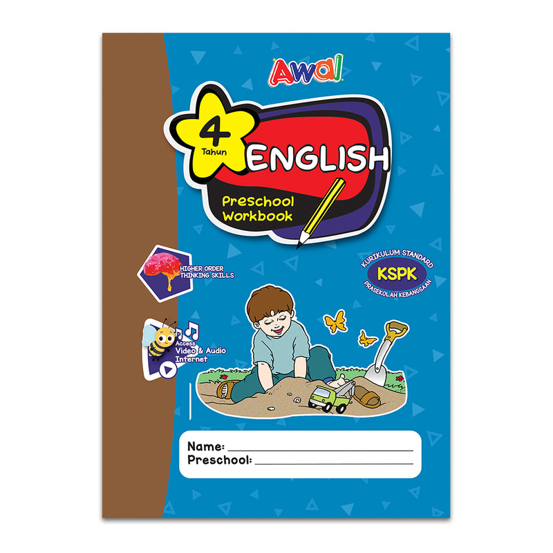 English - Preschool Workbook - 4 years