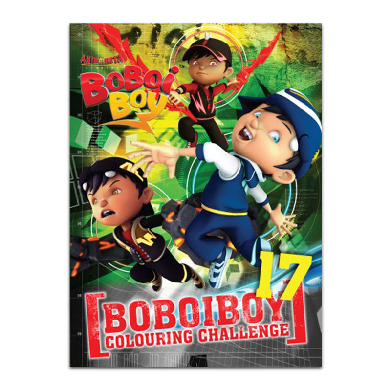 Boboiboy Colouring Challenge Book 17