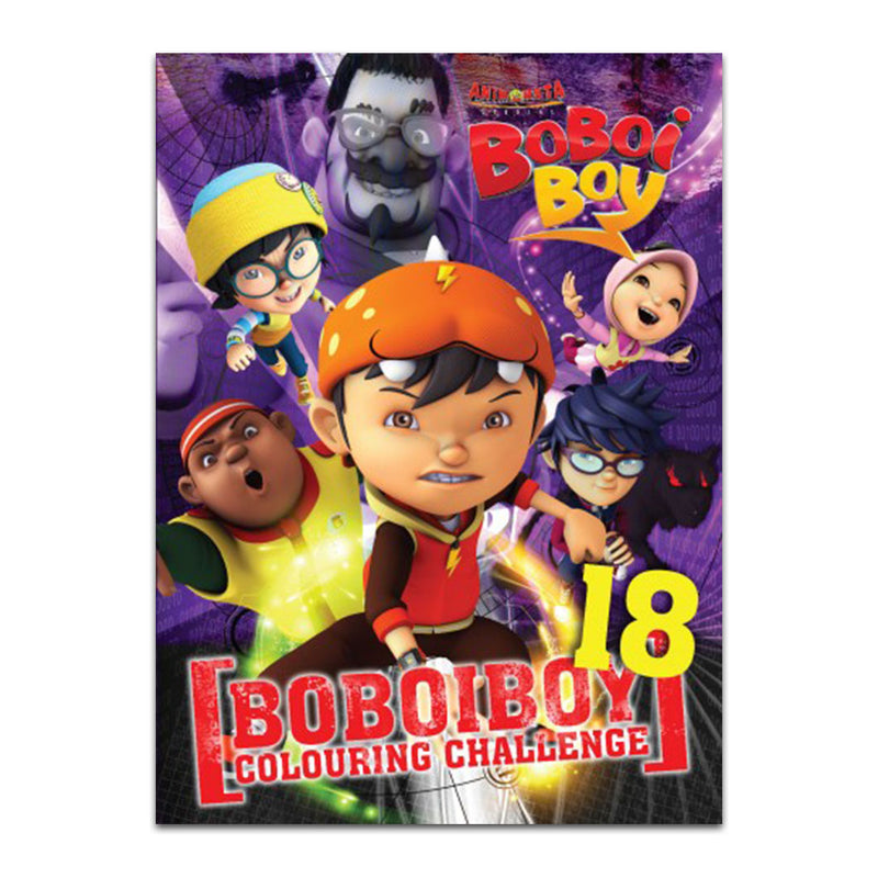 Boboiboy Colouring Challenge Book 18