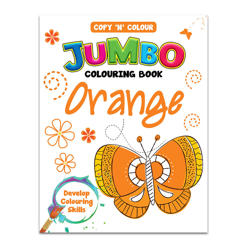 Jumbo Colouring Book Orange