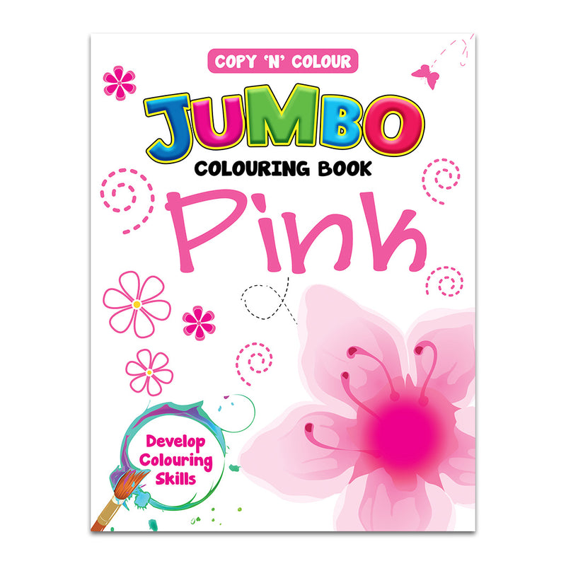 Jumbo Colouring Book Pink