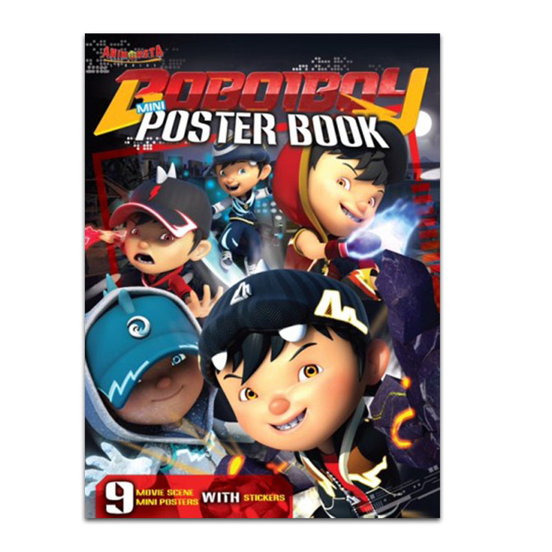 Boboiboy (Movie Series) Poster Book with Sticker Book