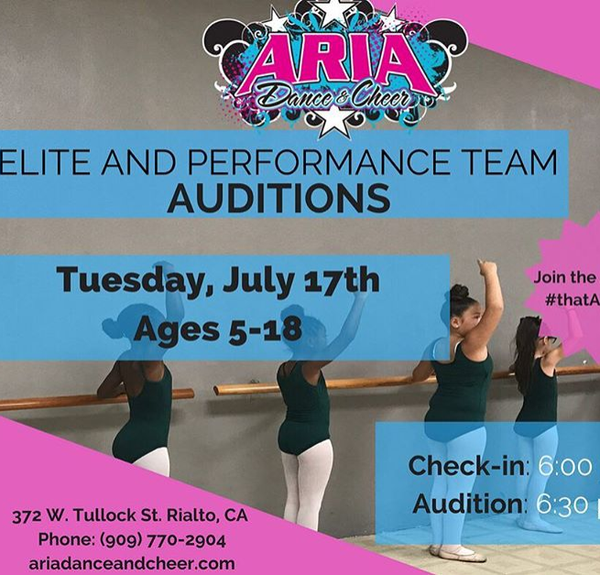 Elite and Performance Team Auditions