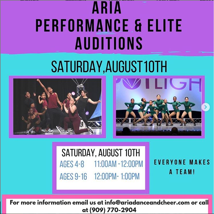 Elite and Performance Dance Team Auditions