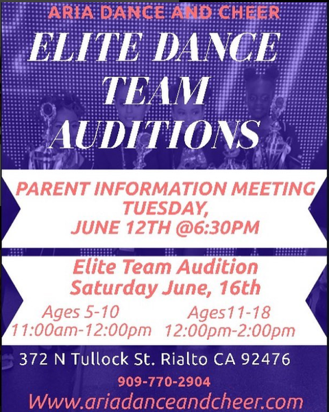 Elite Dance and Performance Team Auditions