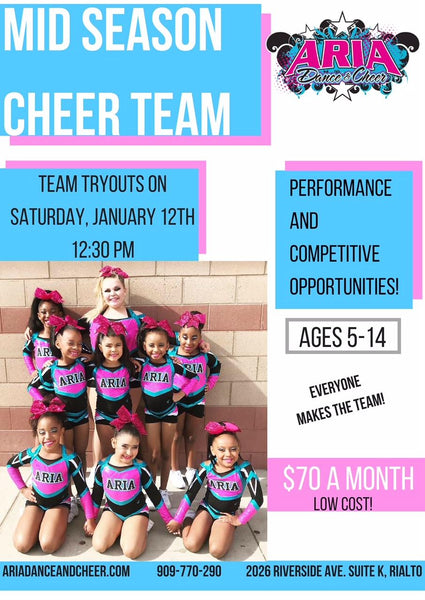 Now Enrolling for Mid-Season Cheer