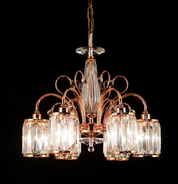 031 Crystal Pendant Light - 6 Lights - Asfour Crystal - Chandelier