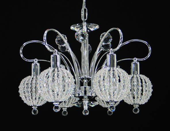 "090 Crystal Pendant Light 18"" 6 Light - Asfour Crystal Chandelier [090-18""-6L+1145 WH]"