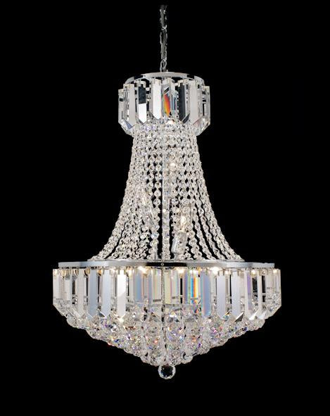 "103 Crystal Pendant Light 20in 12 Light - Asfour Crystal Chandelier [103-20""-40mm-TR-58]"