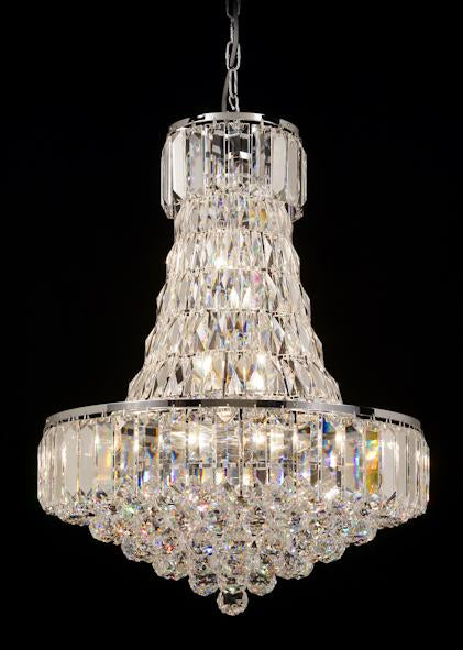 "103 Crystal Pendant Light 20in 12 Light - Asfour Crystal Coffin Stone - Chandelier [103(610-4"")-20""-40mm-91]"