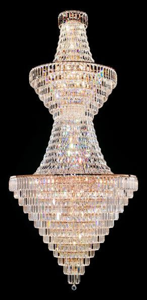 "103 Crystal Pendant Light 43in 44 Light - Asfour Crystal - Chandelier [103(610-4"")-43""-2LAYERS-610-1064]"