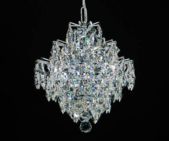 "1081 Crystal Single Pendant Light 10"" Single Light - Asfour Crystal [1081-10""-1L-2024-22mm]"