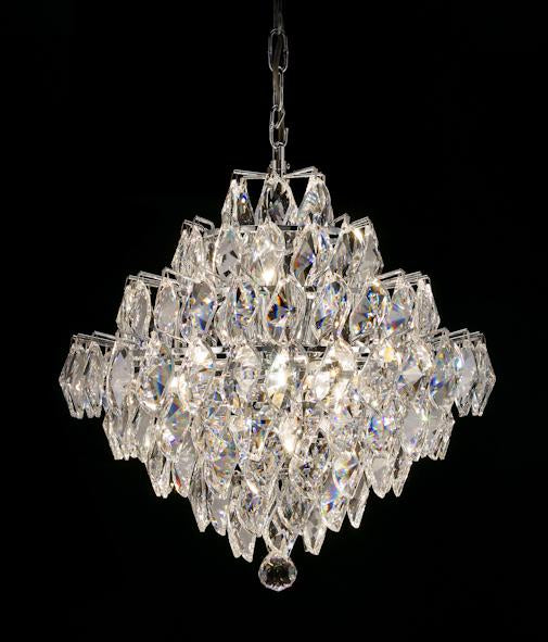 "1081 Crystal Pendant Light 17"" 12 Light - Asfour Crystal Pendeloque - Chandelier [1081-17""-922-132]"