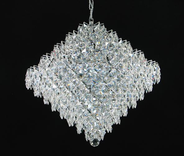 "1081 Crystal Pendant Light 27"" 15 Light - Asfour Crystal Chandelier [1081-27""-15L-2024-28mm]"