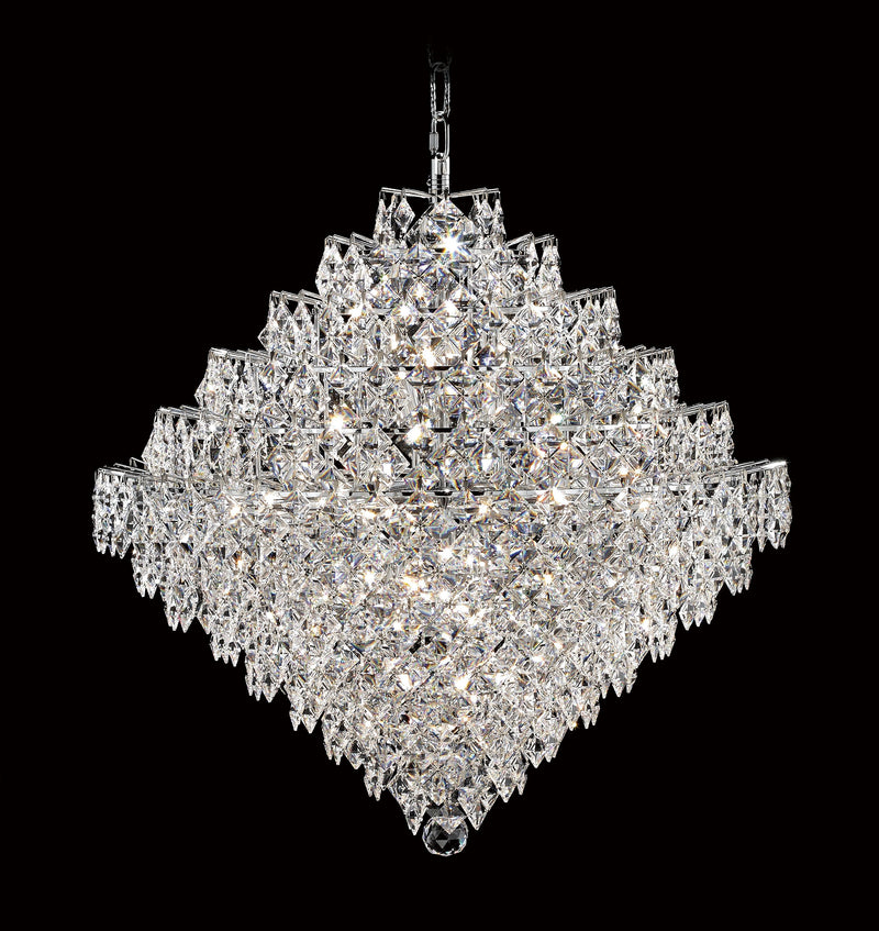 "1081 Crystal Pendant Light 37"" 22 Light - Asfour Crystal Chandelier [1081-37""-22L-2024-28mm]"