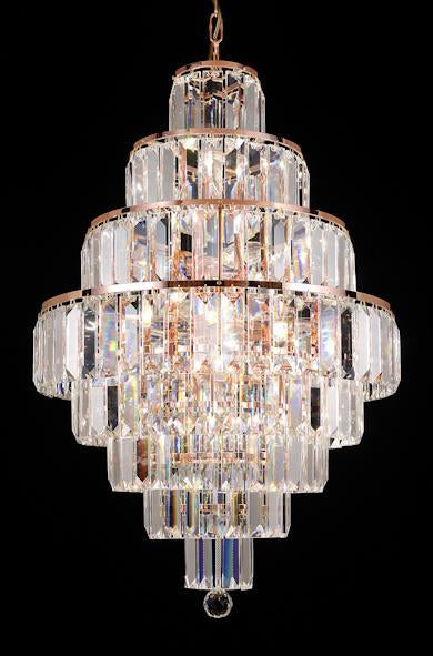 "1083 Crystal Pendant Light 20"" 22 Light - Asfour Crystal Chandelier [1083(610-4"")-20""-212]"