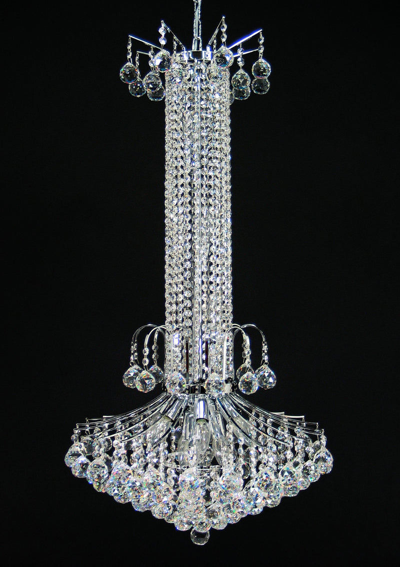 "118 Crystal Pendant Light 21"" 12 Light - Asfour Crystal Chandelier [118-2-21""-40mm]"