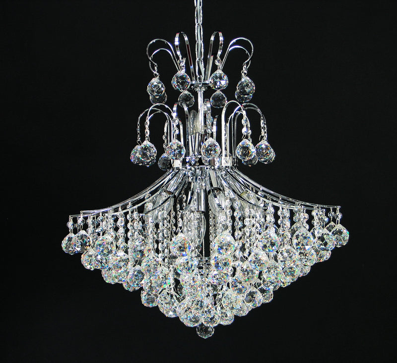 "118 Crystal Pendant Light 24"" 11 Light - Asfour Crystal - Chandelier [118-3-24""-40mm]"