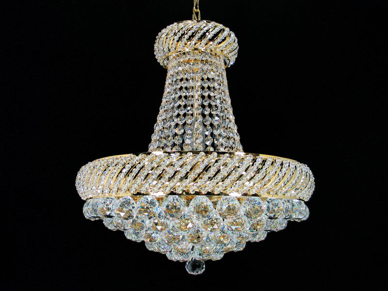 "1502 Crystal Pendant Light 19"" 10 Light - Asfour Crystal Chandelier [1502-19""-10L-40mm]"