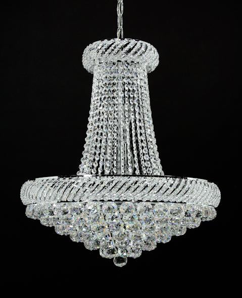 "1502 Crystal Pendant Light 23"" 15 Light - Asfour Crystal Chandelier [1502-23""-40mm]"