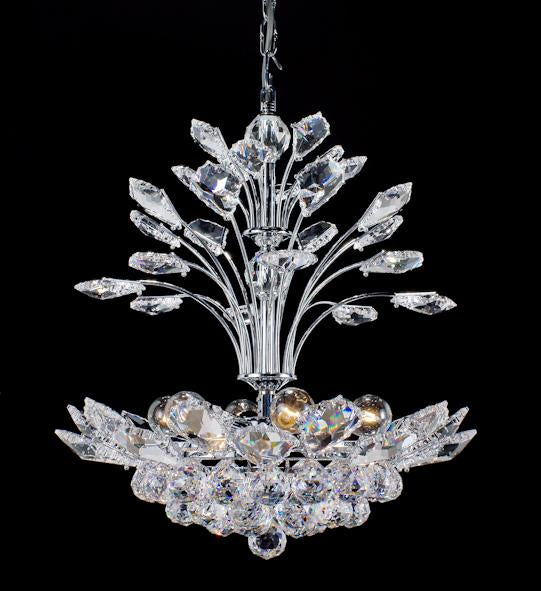 "160 Crystal Pendant Light 17"" 6 Light - Asfour Crystal Chandelier [160-17""-40mm]"