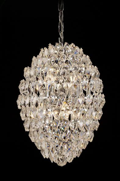 "1922 Crystal Pendant Light 12"" 8 Light - Asfour Crystal Chandelier [1922-12""x18""-2""-240]"