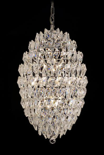"1922 Crystal Pendant Light 18"" 16 Light - Asfour Crystal Chandelier [1922-18""x30""-3""-262]"