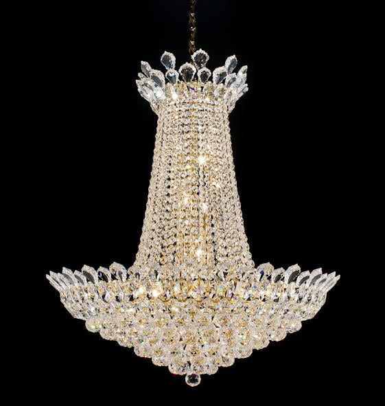 "2009 Crystal Pendant Light 29"" 16 Light - Asfour Crystal Chandelier [2009-29""-40mm]"