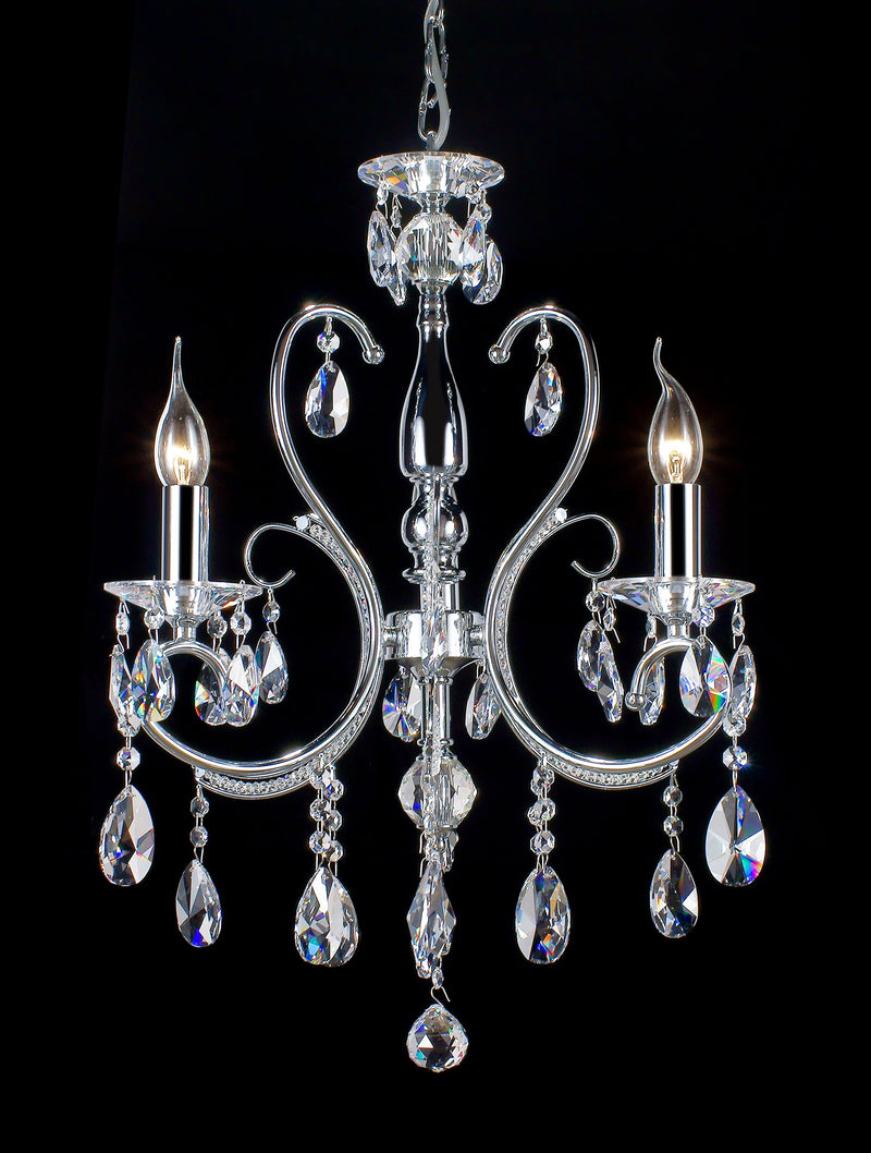 "2013 Crystal Pendant Light 18"" 3 Light - Asfour Crystal Chandelier [2013-18""-3L-873]"