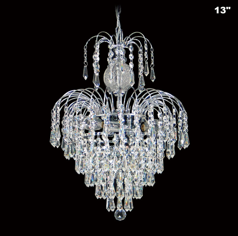4718 Crystal Pendant Light (All Sizes) with Asfour Crystal Prismas & 14mm Beads - Chandelier