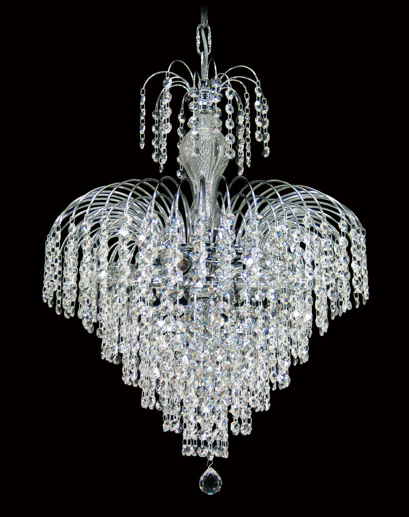 "4718 Crystal Pendant Light 17"" 7 Light - Asfour Crystal 14mm Beads - Chandelier [4718-17""-14mm]"