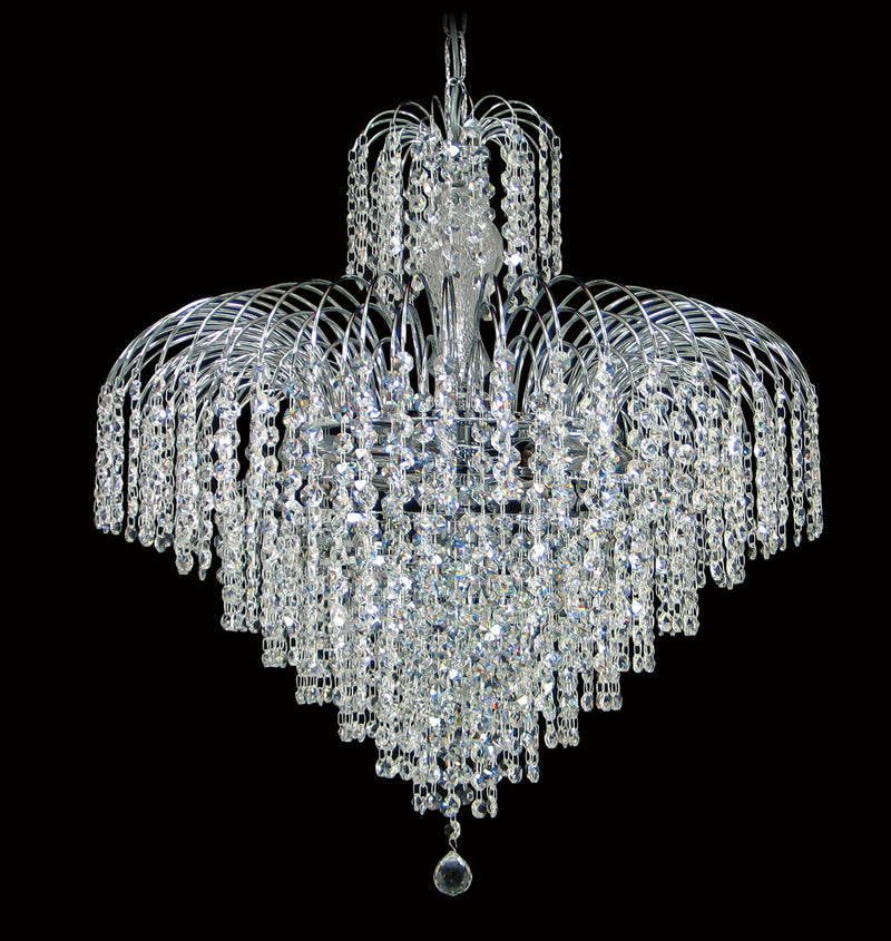 "4718 Crystal Pendant Light - 22"" 9 Lights - Asfour Crystal 14mm Beads - Chandelier [4718-22""-14mm]"