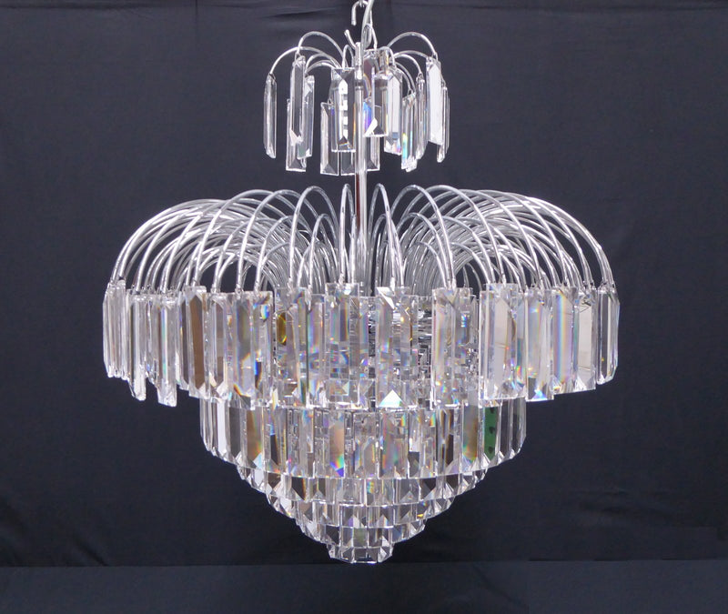 "4718 Crystal Pendant Light - 22"" 9 Lights - Asfour Crystal Penlogue Coffin Stone - Chandelier [4718-22""-610]"