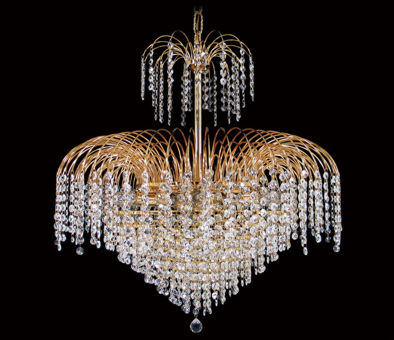 "4718 Crystal Pendant Light - 26"" 13 Lights - Asfour Crystal 14mm Bead - Chandelier [4718-26""-14mm]"