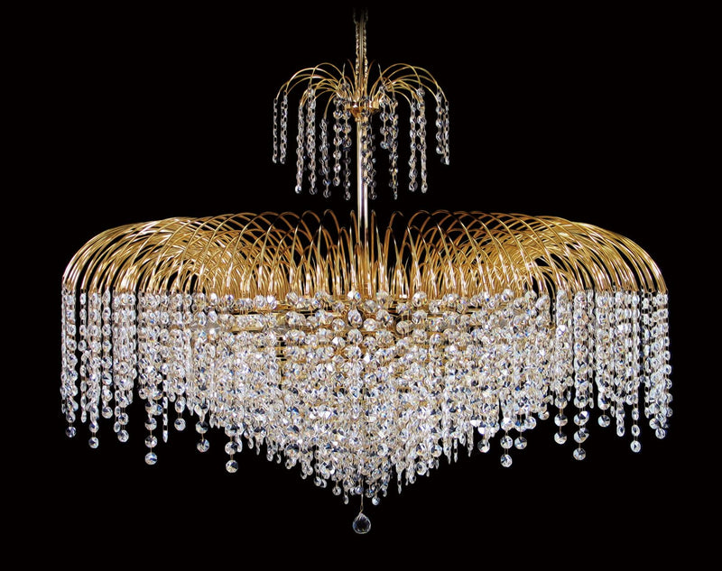 "4718 Crystal Pendant Light 36"" 21 Light - Asfour Crystal 14mm Beads - Chandelier [4718-36""-14mm]"