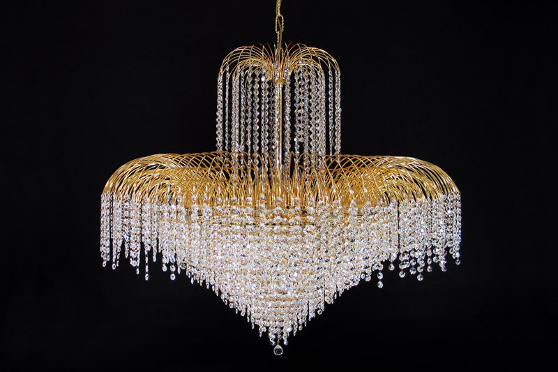 "4718 Crystal Pendant Light 43"" 24 Light - Asfour Crystal 14mm Beads - Chandelier [4718-43""-14mm]"