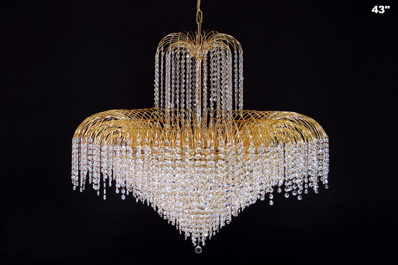 4718 Crystal Pendant Light (All Sizes) with Asfour Crystal 14mm Beads - Chandelier
