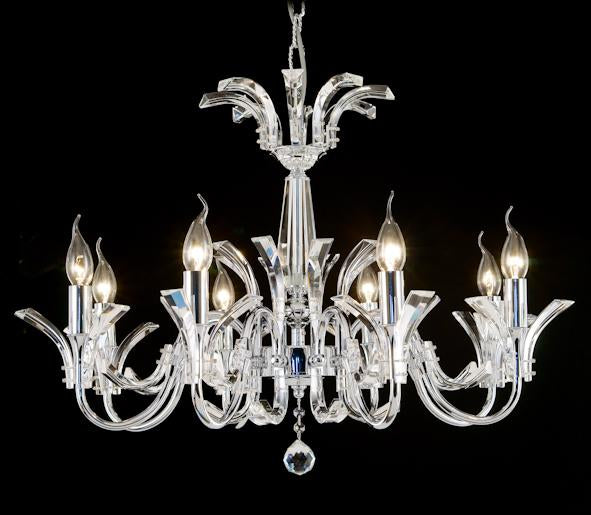 "50016 Crystal Pendant Light - 29.5"" 8 Light - Asfour Crystal Chandelier [50016-29.5""-8L]"