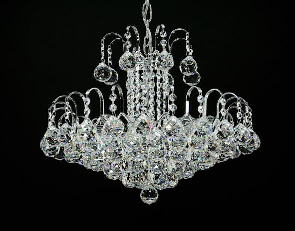 "5970 Crystal Pendant Light - 17"" 9 Light - Asfour Crystal Chandelier [5970-17""-40mm]"
