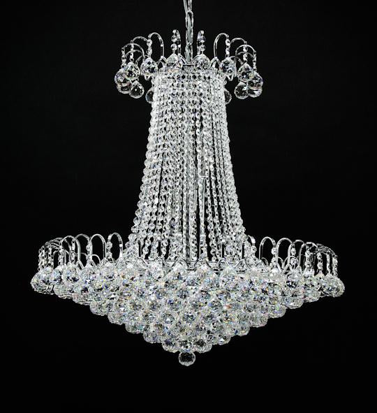 "59701 Crystal Pendant Light - 28"" 15 Light - Asfour Crystal Chandelier [59701-28""-40mm]"