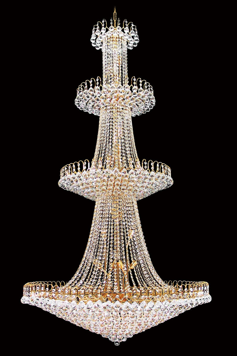 "59701 Crystal Pendant Light - 39"" 40 Light - Asfour Crystal Chandelier [59701-39""-30mm-3LAYERS]"