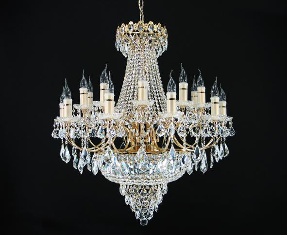 "6000 Crystal Pendant Light - 36"" 29 Light - Asfour Crystal Chandelier [6000-36""-10+10L-911]"