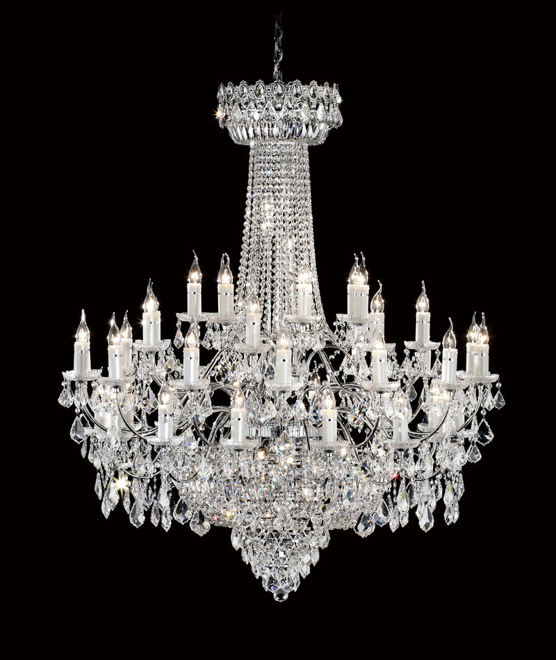 "6000 Crystal Pendant Light - 47"" 51 Light - Asfour Crystal Chandelier [6000-47""-14+14+7+7L-911]"