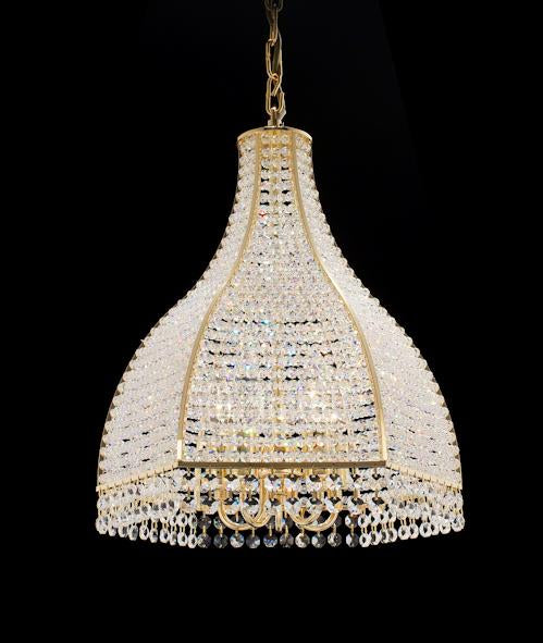 "6500 Crystal Pendant Light - 14"" 5 Light - Asfour Crystal Chandelier [6500-14""-5L]"