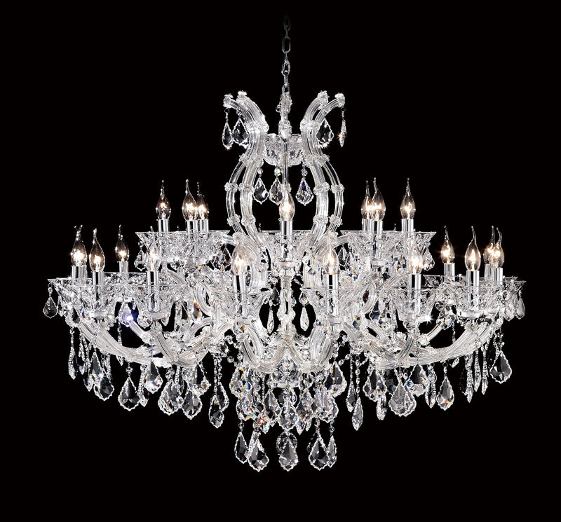 "6611 Crystal Pendant Light - 44"" 24 Light - Asfour Crystal Chandelier [6611(9923C)-44""-16+8L-911]"