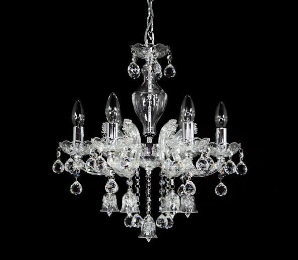 "6618 Crystal Pendant Light - 18"" 6 Light - Asfour Crystal Chandelier [6618(A04)-18""-6L-701+A29]"